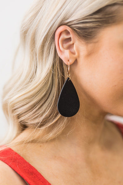 If You Only Knew Earrings in Black - Filly Flair