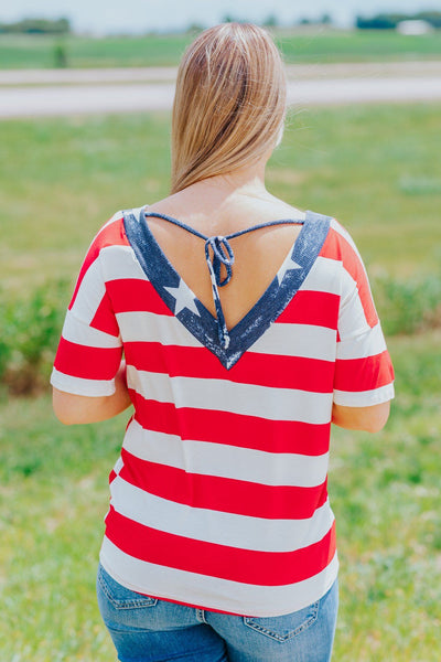 All American Tee In Red - Filly Flair