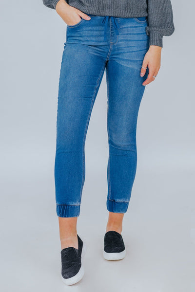 Perfect Illusion Mid Rise Jean Joggers - Filly Flair