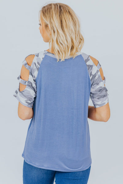 Safety Dance Top in Denim Blue - Filly Flair