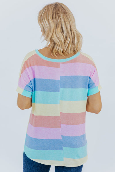 Love Today V Neck Multicolored Tee - Filly Flair