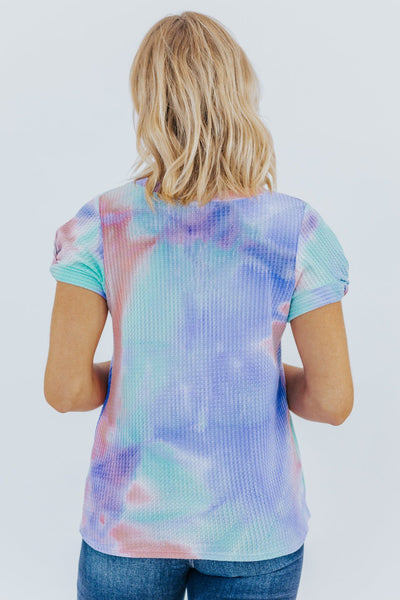 Today's A Good Day Tie Dye Waffle Print Tie Dye Tee - Filly Flair