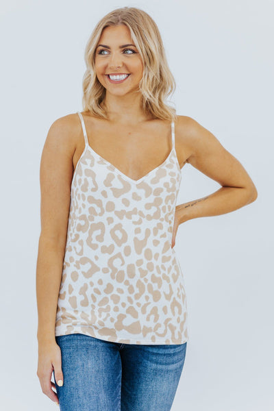 Feeling Loved Tank In Taupe Cheetah - Filly Flair
