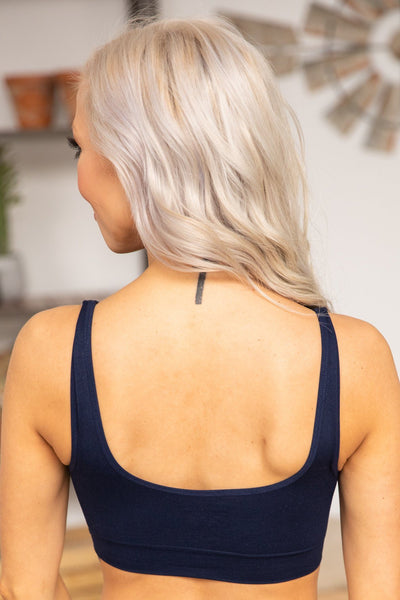 Love Again Lace Front Bralette in Navy - Filly Flair
