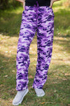 Dreaming Good Dreams Camo Print Lounge Wear in Purple - Filly Flair