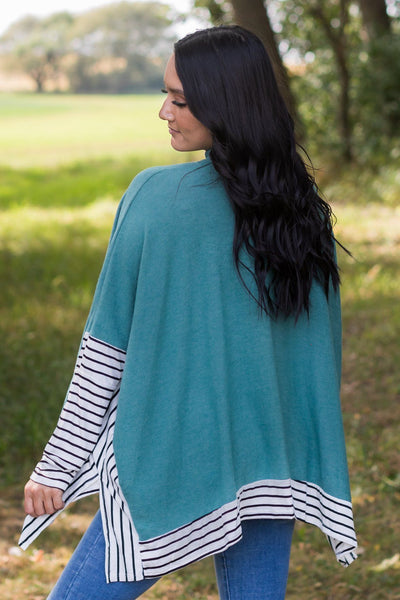 PRE-ORDER Doing My Thing Long Sleeve Top in Teal Shipping Apx 10/27 - Filly Flair