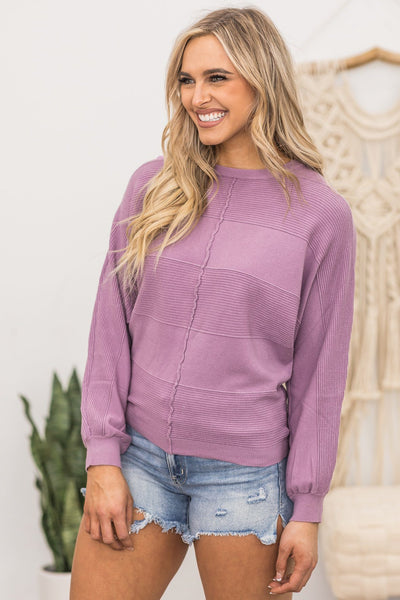 Guess Who Sweater in Lilac - Filly Flair