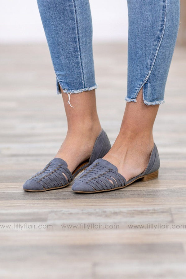 Every Step You Take Suede Slip on Flats In Grey - Filly Flair