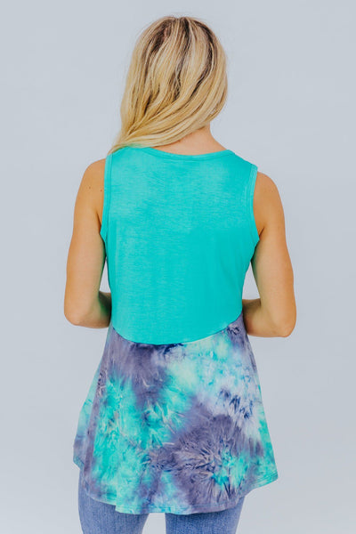 All Falls Down Tank in Mint - Filly Flair