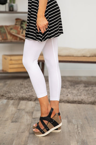 You're The One High Waist Tummy Control Leggings in White - Filly Flair