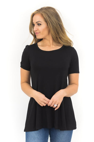 My Time To Shine Short Sleeve Top in Black - Filly Flair