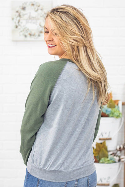 Waiting For The Weekend Long Sleeves Top in Olive - Filly Flair