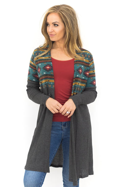 All About It Cardigan in Jade - Filly Flair