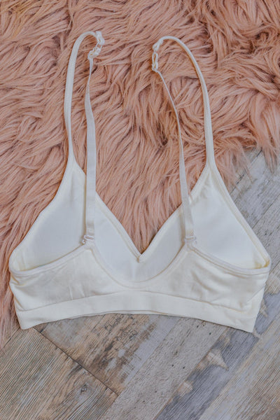 Here Comes The Sun Seamless Bra in Off White - Filly Flair
