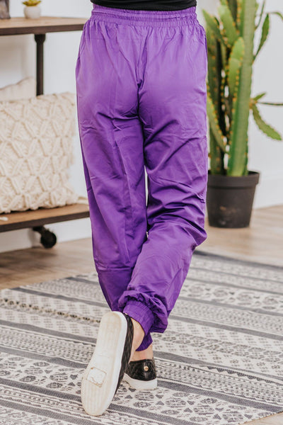 History Making It's Way Lightweight Windbreaker Jogger in Purple - Filly Flair