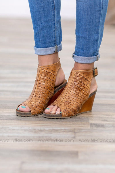 True Need Be Tan Leather Wedge - Filly Flair
