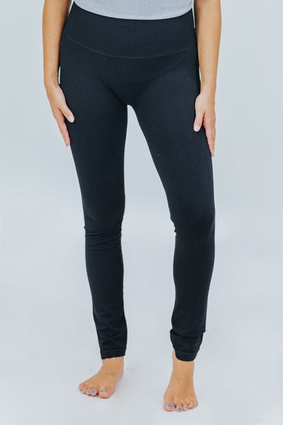 Always Stick Together Tummy Control Slimming Leggings in Black - Filly Flair