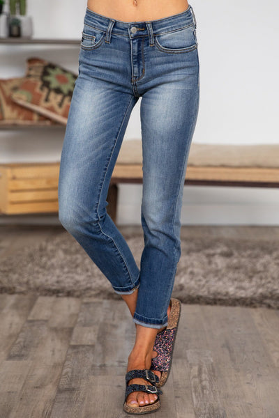 Jo Judy Blue Mid Rise Relaxed Fit Jeans - Filly Flair