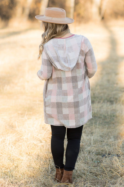Forever Free Open Front Long Sleeve Cardigan In Taupe - Filly Flair