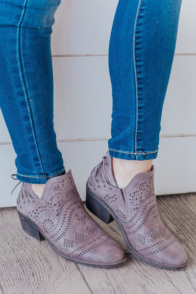Dancing Under The Stars Booties in Taupe - Filly Flair