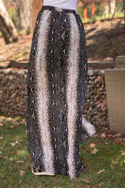 Call Her Name Snakeskin Shorts Maxi Skirt - Filly Flair