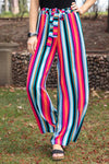 Find My Way Striped Multi-Colored Paper Bag Pants - Filly Flair