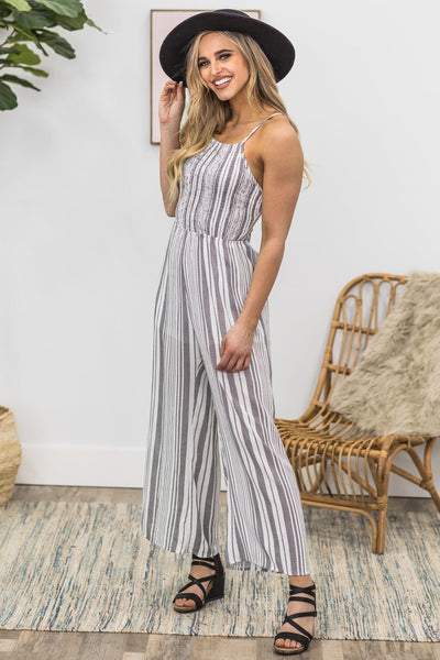 Classy Babe Jumpsuit in Ivory - Filly Flair