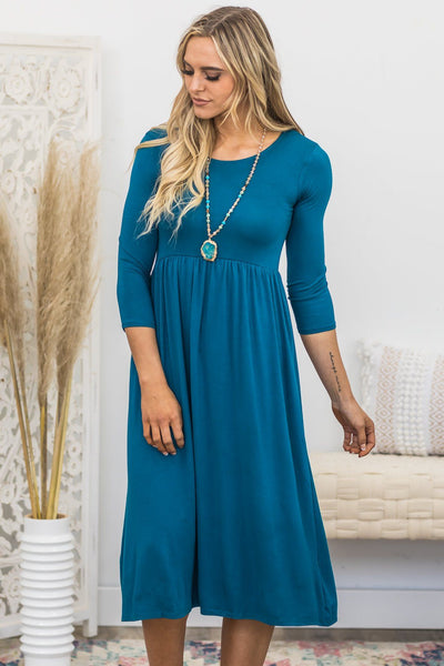 Always Have Mercy Maxi Dress In Teal - Filly Flair