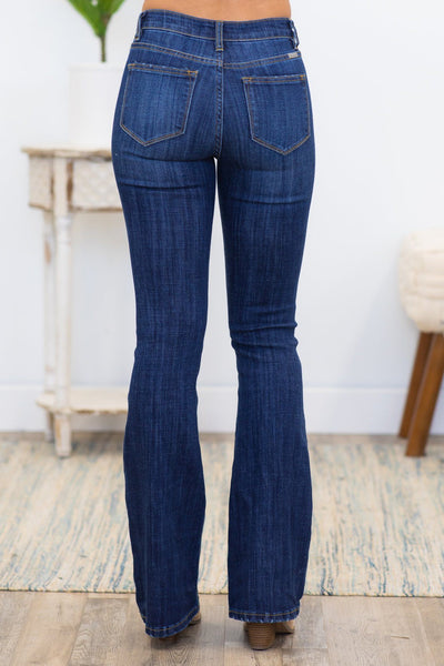 Addicted To You Kan Can Flare Dark Wash Jeans - Filly Flair
