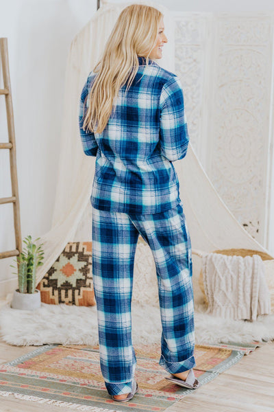 Sleeping Beauty Micro Fleece Sleep Set In Blue - Filly Flair