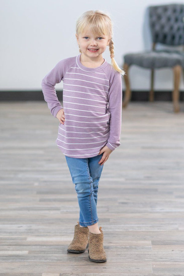 KIDS: Lovely in Lilac Long Sleeve Top - Filly Flair