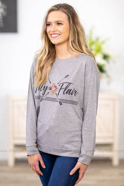 More Than a Feeling 'Filly Flair' Aztec Long Sleeve Sweater - Filly Flair
