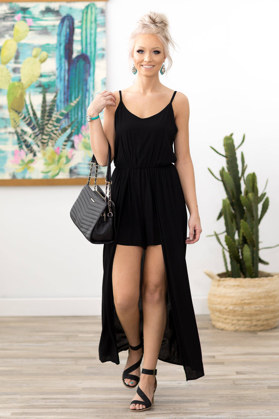 86b5290426a8 Bright Future Sleeveless Maxi Romper in Black