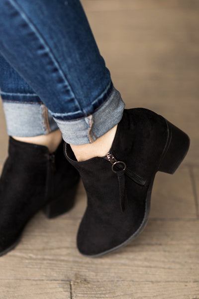 Shopaholic Booties in Black - Filly Flair