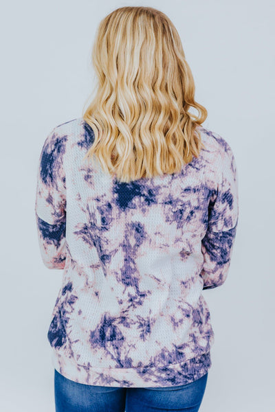 How To Love Tie Dye Top in Purple - Filly Flair