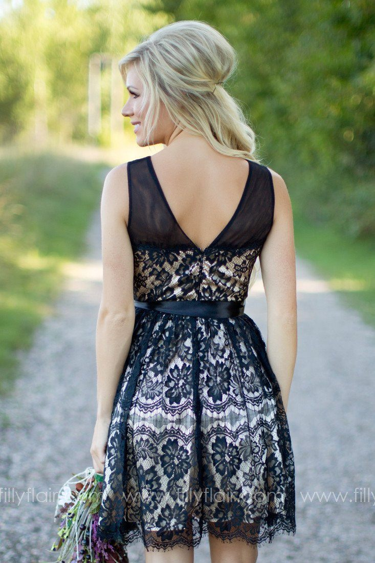 A Lovely Ballad Bridesmaid Dress in Black