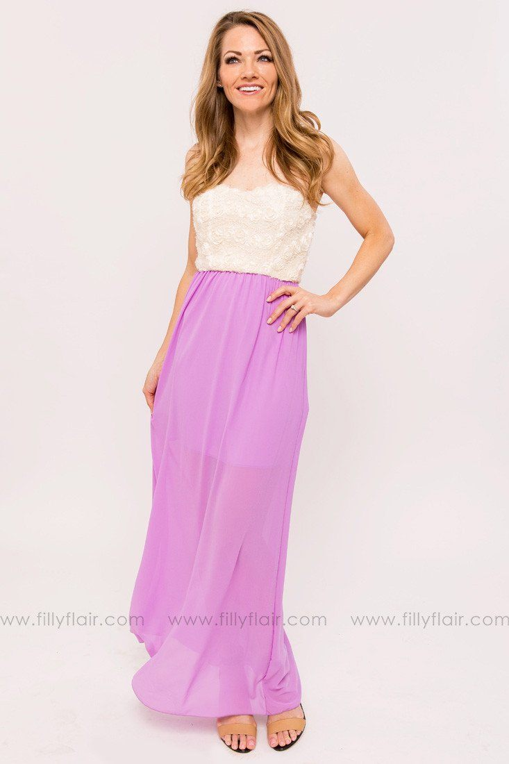 Natalie Bridesmaid Maxi Dress in Lilac