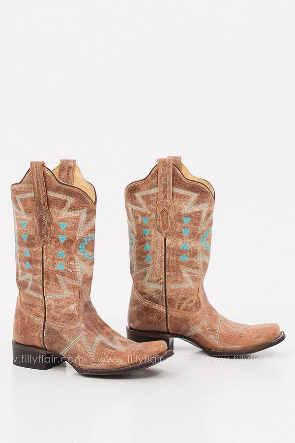Corral Turquoise Embroidered Western Boot