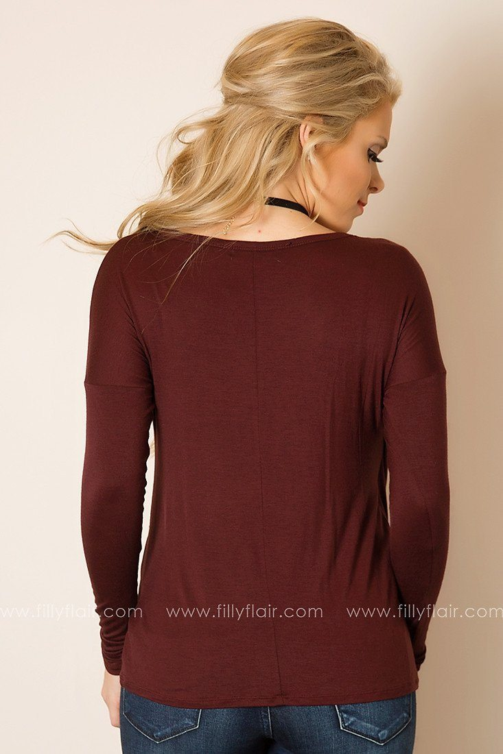 Runaway Love Tunic in Plum