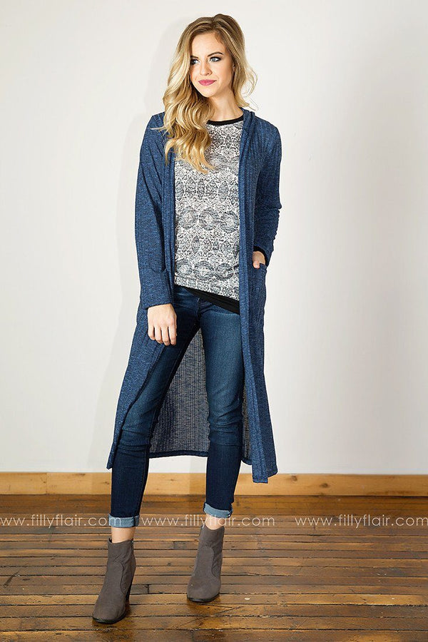 New Destination Duster Cardigan in Navy
