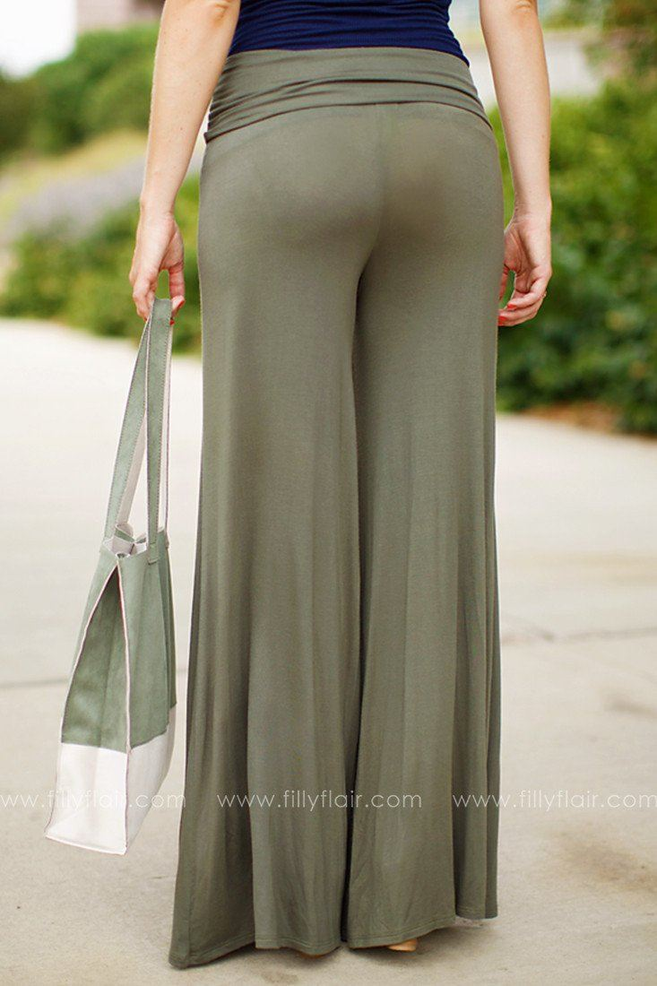 Lisa Gaucho Pants in Olive