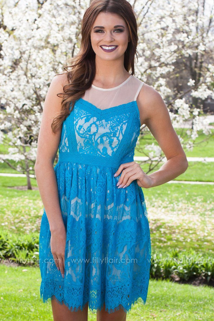 Into the Night Dress in Dark Cyan