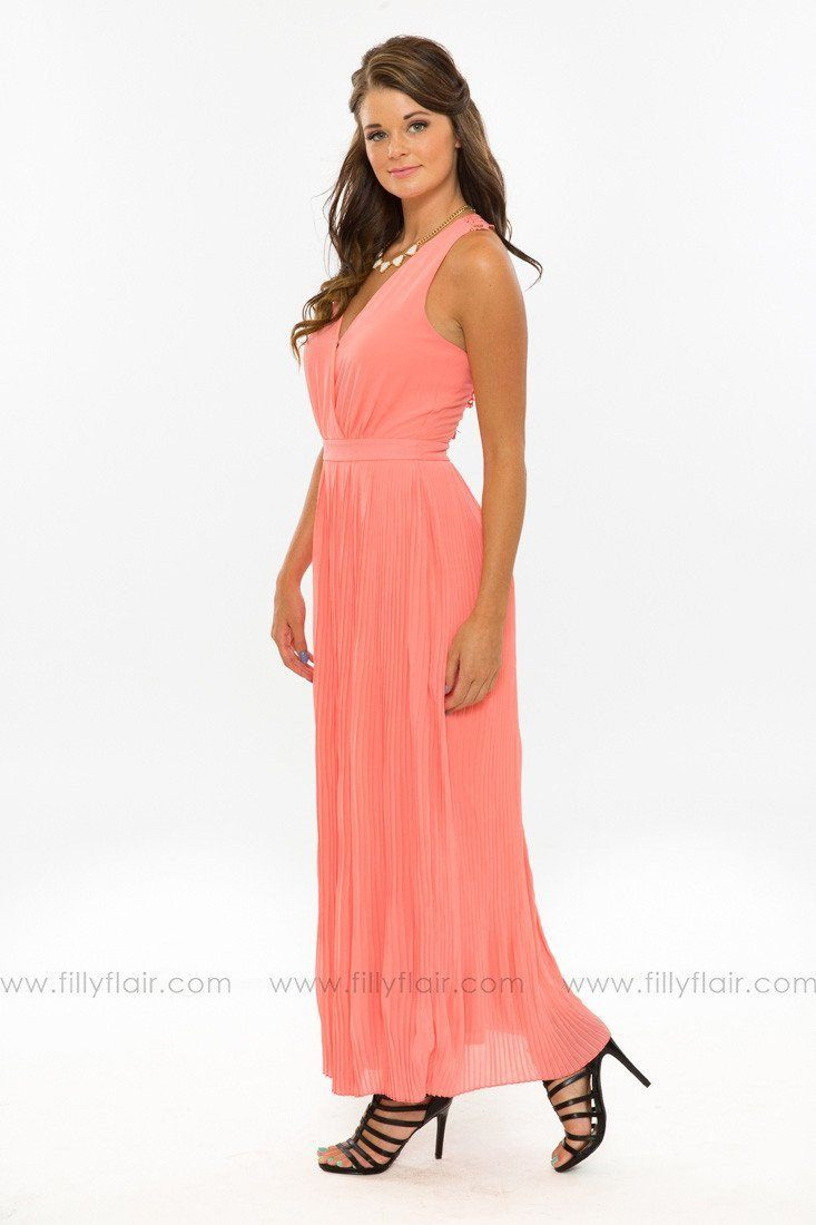 Summer Dreams Maxi Dress in Coral