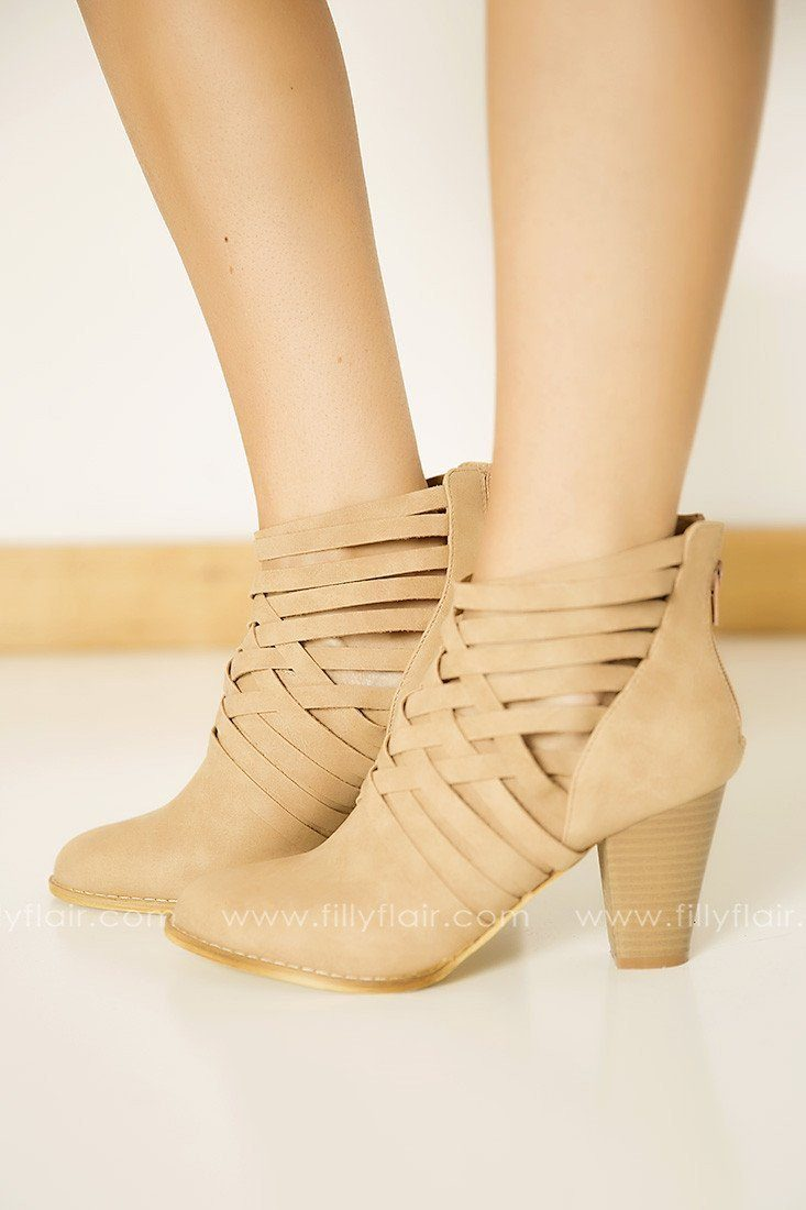 A Cut Above Booties in Beige