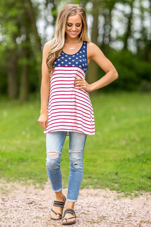 American Made Striped Tank