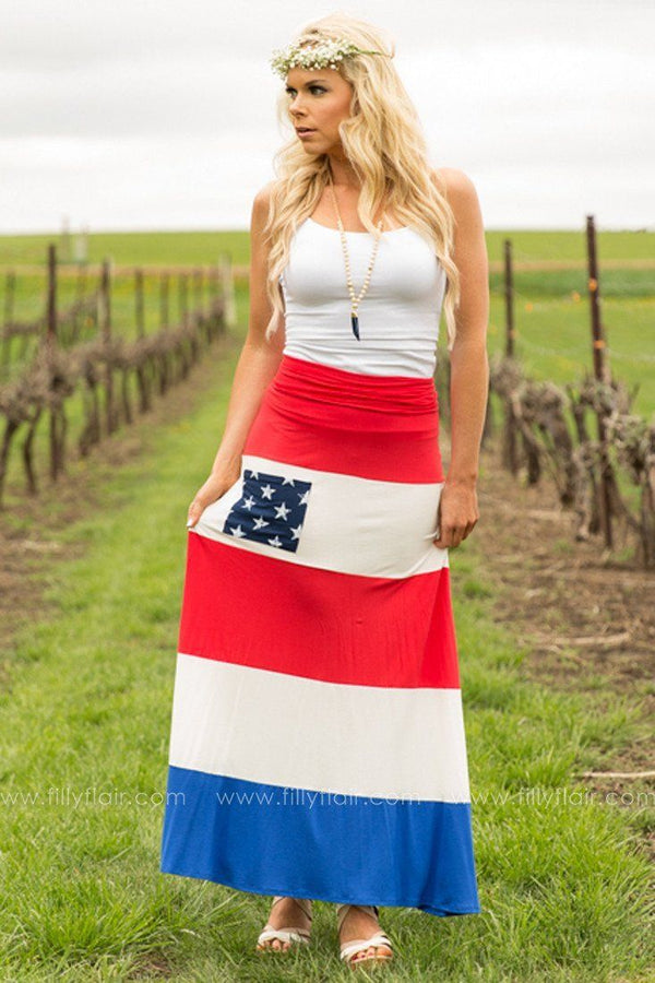 Stars and Stripes Love Maxi Skirt