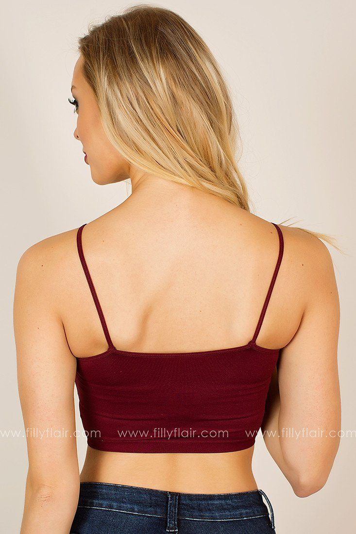 Caged Bralette in Burgundy