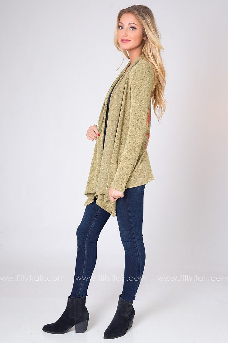 Breeze Right In Cardigan in Mustard