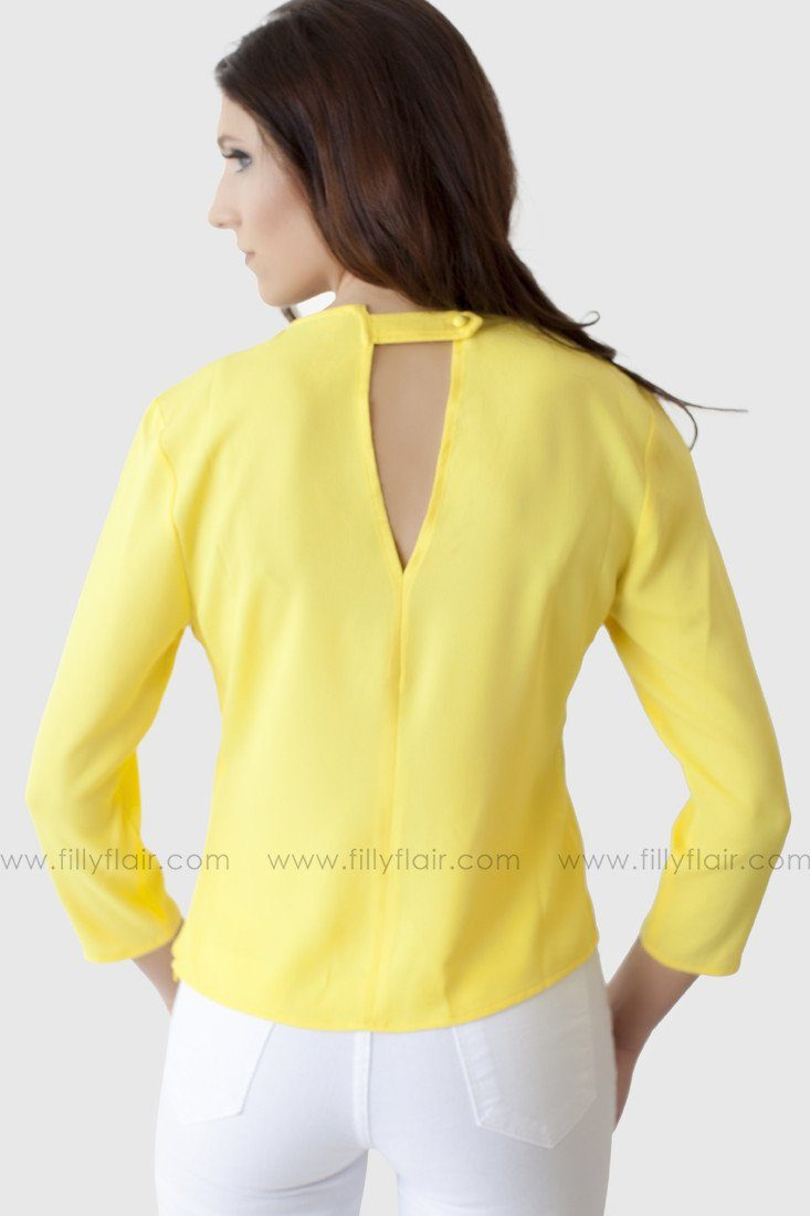 No Regrets Top in Yellow