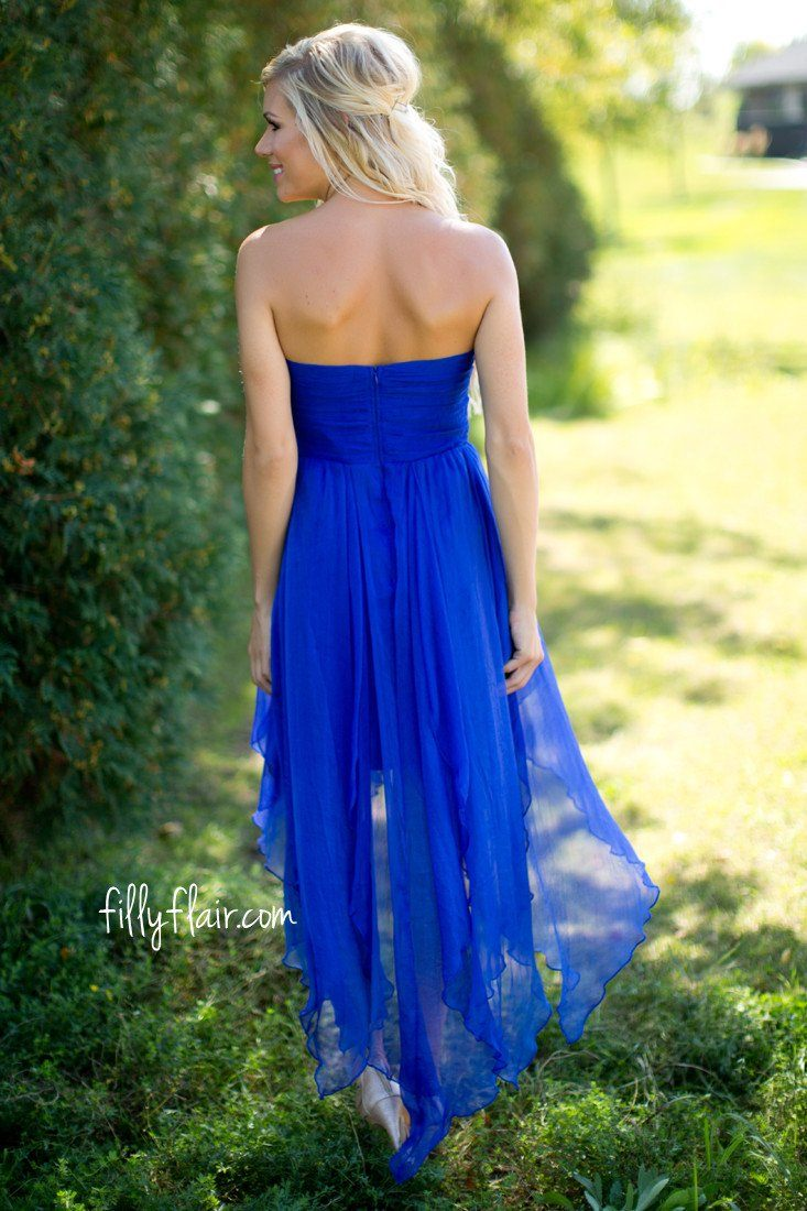 Incredible Love Strapless Dress in Royal Blue